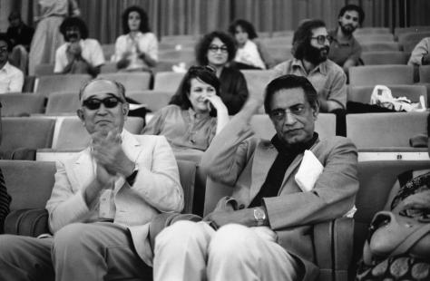 Two Great Film Director Satyajit Ray and Akira Kurosawa at the 1982 Venice Film Festival in Italy!
